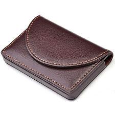 Brown Pocket Leather Wallet Luxury Men/Women Business Name Card Holder Case Bag