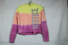 """Justice Girls' Size 10 Multi-Color Hoodie with """"JUSTICE"""" in Silver Glitter"""