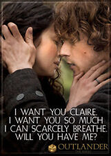 """Outlander - Photo Quality Magnet: Jamie Fraser & Claire """"I Want You"""""""