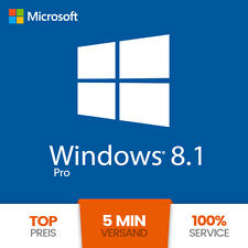 Microsoft Windows 8.1 Professional OEM PRO 32/64 Bit Key Lizenz NEU Vollversion