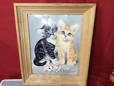 Adorable Litho Print of Kittens by Girard - Art Treasures D.A.C. N.Y. - 9 1/2""