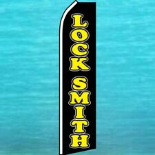 Lock Smith Flutter Flag Locksmith Tall Feather Swooper Banner Advertising Sign