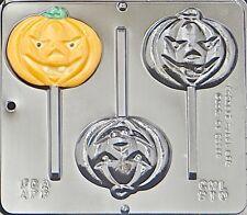 Pumpkin Face Lollipop Chocolate Candy Mold Halloween  910 NEW