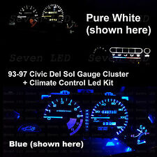 Honda Civic del sol delsol Cluster + Climate Control + dome + license led kit