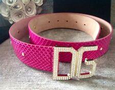 Pour femme Dolce & Gabbana Violet Strass Ceinture en Cuir (RRP £ 249)