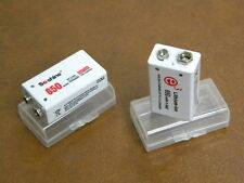 9V Rechargeable Li-ion Batteries 650mAh built-in protection two pcs pre-charged