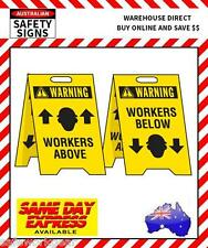 Warning Workers Above / Workers Below Double Sided A-Frame Fluteboard Floor Sign