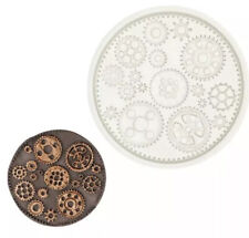 COGS SILICONE MOULD-FONDANT ICING/CHOCOLATE MOLD-SUGAR GEARS/STEAMPUNK/WHEELS