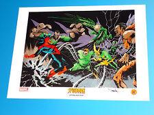 Spider-Man Sinister Six Lithograph Signed Jae Lee Marvel Comics Kraven Vulture