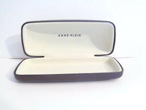 Anne Klein Dark Brown Sunglass Eyeglass Flip Open Hard Case Lion Design