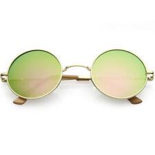 Gafas de sol de hombre verde redondos, de 100% UVA & UVB