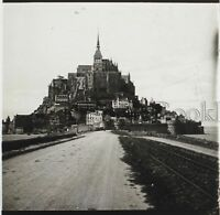 Mont st Michel N3 Francia Placca Da Lente Stereo Positive Vintage