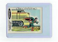 Sunbeam Bread DC Super Heroes Sticker Card #19 Dick Giordano Signed Superman