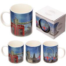 Tazza Mug in Ceramica Foto di Londra Colazione Idea Regalo Cabina Casa Microonde