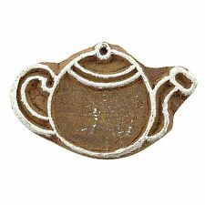 Wood Block Art Brown Handmade Decorative Blocks Kettle Stamps For Clay PB2587A