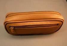 Awesome quality CAMEL /TAN leather pipe tobacco pouch / case