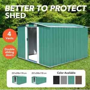vidaXL Garden Shed Metal Outdoor Storage Shelter Multi Sizes Multi Colours