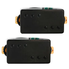 Humbucker Pickup for Electric Guitar Double Coil Bridge Neck Pickups Set Black