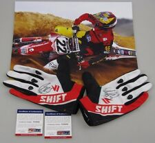 CHAD REED Hand Signed PAIR Moto X Gloves + BONUS + PSA DNA COA's