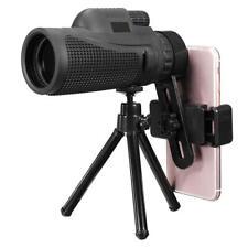 16X52/40X60 HD Zoom Monocular Telescope Telephoto Camera Lens Phone w/ Tripod