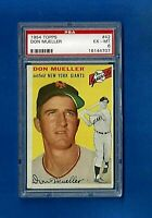 1954 Topps Baseball # 42 DON MUELLER PSA 6 EX-MT NEW YORK GIANTS