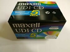 Vintage retro Maxell UDI CD60 min  blank audio cassettes 5 pack -new