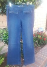 JUICY COUTURE PULL UP MEDIUM WASH JEANS. LARGE. EUC