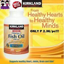 30% OFF! AUTHENTIC KIRKLAND FISH OIL OMEGA 3 400 SOFTGELS USA 2022 P 2.36/PC