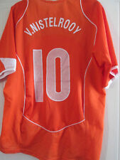 Holland 2004-2006 Van Nistelrooy #10 Home Football Shirt Size Medium /39305