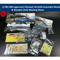Flyhawk FH1310S 1/700 HMS Agincourt Assembly Model & Wooden Deck Masking Sheet