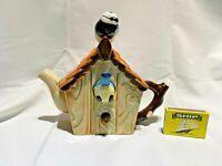 bird house  teapot   swineside teapottery