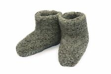 Size 5 - GREY - WOMEN'S MERINO WOOL BOOTS WARM COZY SLIPPERS MOCCASINS CHUNI