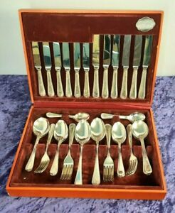 Cooper Ludlam 44 Piece Canteen Silver Plated Tableware Set Sheffield England