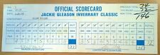 PGA GOLF 1978 JACKIE GLEASON TOURNAMENT SCORECARD ALLEN MILLER 2/24/78