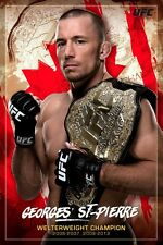 UFC GEORGES ST-PIERRE CANADA 24x36 POSTER FIGHTER MMA CHAMPION GSP FRENCH GIFT!!