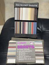MAPEI Polyblend Floor Grout Caulk Color Palette Tile 68 Salesman Samples Colors