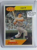 2009 Topps Heritage Baseball Flashbacks #BF1 Mickey Mantle : New York Yankees
