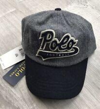 $68 Polo Ralph Lauren RLX Wool Football Baseball Ball Cap Hat - Grey/Navy Sport