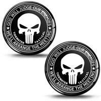 2 Resinati 3D Adesivi The Punisher Punitore Skull Cranio Teschio Logo Auto Moto
