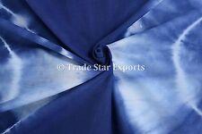 Indian Shibori Fabric For Dress Making Tie Dye Indigo Cotton Voile 5 Yard Fabric