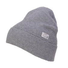 RRP €50 DIESEL K-RAW Wool Blend Knitted Beanie Cap With Logo Patch One Size
