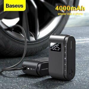 Baseus 4000mAh LED Tyre Inflator Portable Mini Air Compressor Car Bike Pump