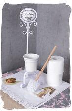 Wc Bürstengarnitur Weiss Toilettenbürste Klobürste Vintage Bad Einzelstück
