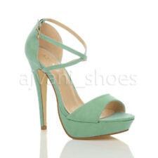 Sandali e scarpe verde con tacco altissimo (oltre 11 cm) di sera per il mare da donna