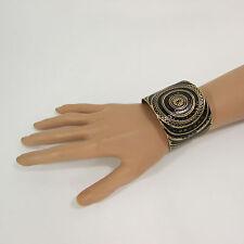 New Women Cuff Fashion Jewelry Gold Metal Bracelet Circles Black White Pink Blue