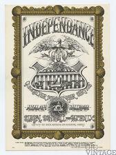Family Dog 69 Independence Postcard Quicksilver Messenger Service 1967 Jul 4