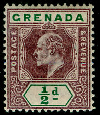 Granada SG57, 1/2 D aburrido púrpura y verde, M como nueva. wmk ca.
