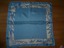 Vintage Davidoff Cool Water Perfume Woman Sky Blue Scarf