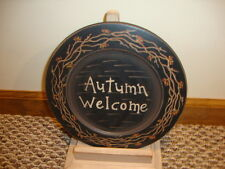 Country new FALL wood decor plate / AUTUMN WELCOME /nice