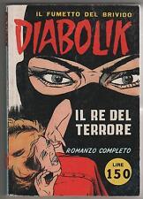 DIABOLIK  N.1 IL RE DEL TERRORE anastatica 1994 swiiss 1 swiisss swiss swisss